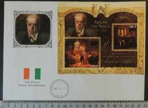 2013 large format FDC art adolphh von menzel flags good used