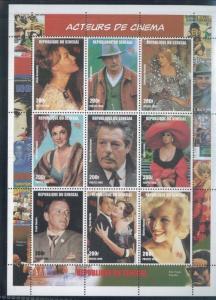 CINEMA ACTORS Sheet of 9 #1347 MNH - Senegal E2