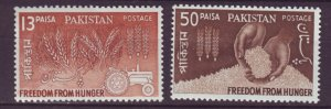 J22112 Jlstamps 1963 pakistan set mnh #176-7 farming