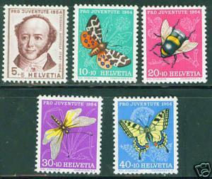 Switzerland Scott B237-41complete MNH** 1954 set CV $11