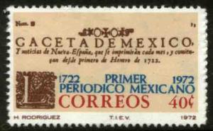MEXICO 1039, 250th Anniversary of the First Newspaper MINT, NH. VF.