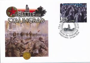 [96898] Sierra Leone 2005 WWII Battle for Stalingrad Special Cachet Cover