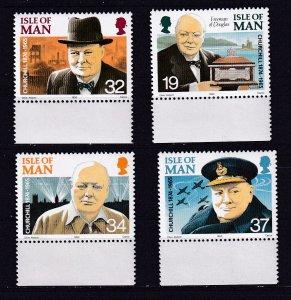 Isle of Man --1990-- Sir Winston Churchill  MNH  Set # 432-435