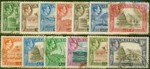 Aden 1939-45 set of 13 SG16-27 Fine Used