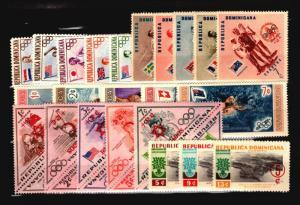 Dominican Republic 28 Mint Semi-Postals (Most NH) / Few Faults - C1075