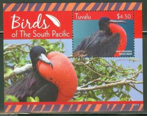 TUVALU  2015   BIRDS OF THE SOUTH PACIFIC  S/S  MINT NH