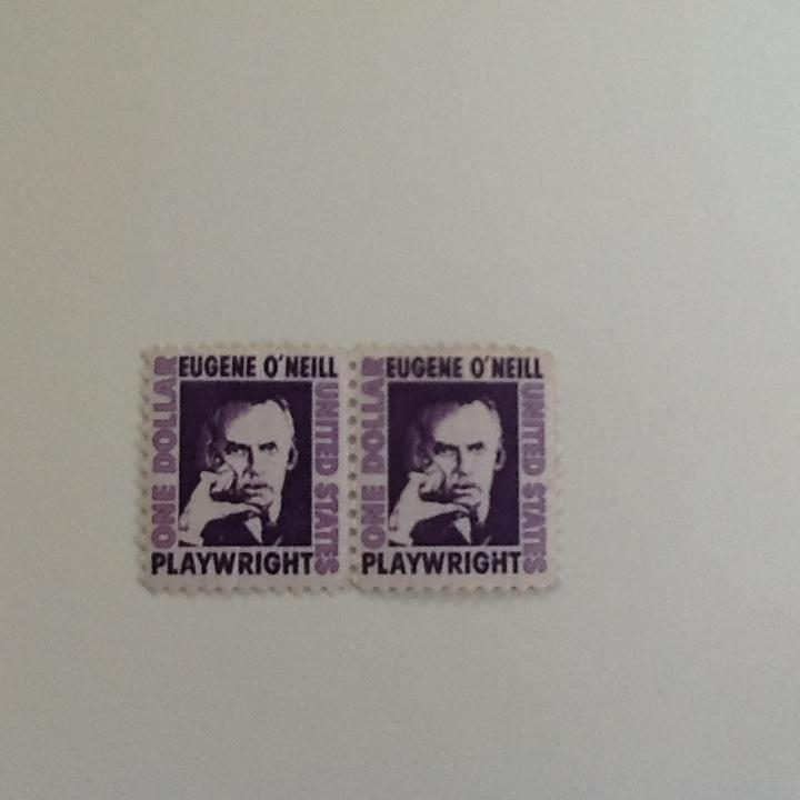 Eugene Oneil $1.00 , coil 2 stamps, mint, nh, mint condition, sorry, no Scott #