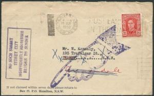 AUSTRALIA 1950 cover NO SUCH STREET IN SYDNEY, ............................39776