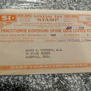 Special Tax Stamp, CV $125