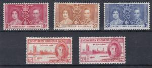 NORTHERN RHODESIA   1937 - 46  CORONATION & VICTORY SETS   M H