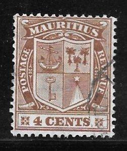 Mauritius 167: 4c Coat of Arms, used, F