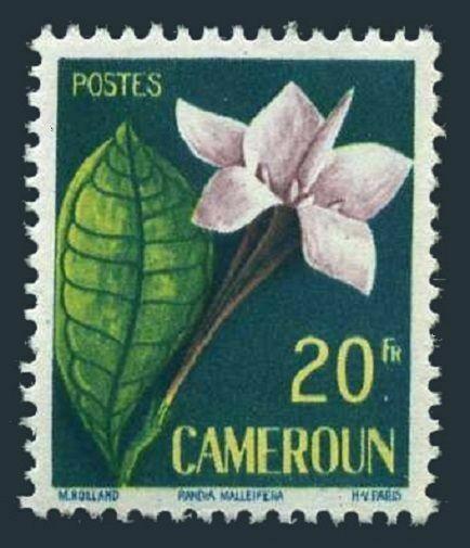Cameroun 333,hinged.Michel 319. Flowers 1959:Randia Malleifera.