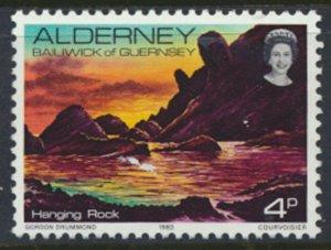 Alderney Channel Islands SG A2 Used Scenes Hanging Rock 1983 SC# 2 See scan