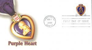 #3784A Purple Heart Fleetwood FDC