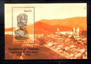 BRASIL BRAZIL 1992 TIRADENTES ANIV  S/S YV BL 87 MI 89