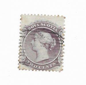 Nova Scotia #9 Used - Stamp - CAT VALUE $6.00