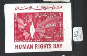 SHARJAH     (P1206B)  HUMAN RIGHTS DAY  SG 65A   MNH