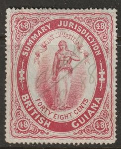 British Guiana 1883  Summary Jurisdiction revenue used