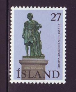 Iceland Sc 487 1975 Thorvaldsen stamp mint NH