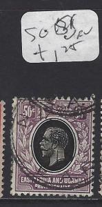 EAST AFRICA AND UGANDA  (P1710B)  KGV   50C  SG 51   VFU