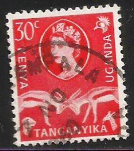 Kenya, Uganda & Tanzania 1960 Scott# 125 Used