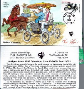 Fantastic Pugh Designed/Painted 1898 Columbia Auto FDC...78 of 82 Created!