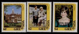 Grenada 1116-8 MNH Princess Diana 21st Birthday, Royal Baby o/p