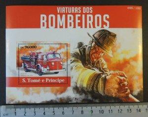 St Thomas 2015 fire engines trucks tenders s/sheet mnh