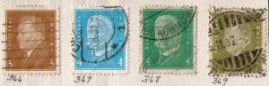 Germany, Scott #366-369 Used (Four Total)  F-VF