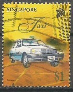 SINGAPORE, 1997, used $1, Taxi, Scott 790