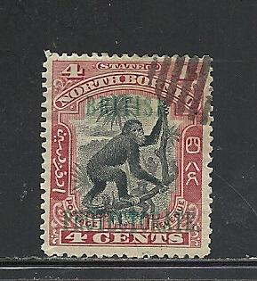 North Borneo #108 used Scott cv $.35 Monkey