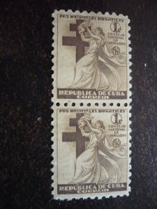 Stamps - Cuba - Scott# RA4 - Mint Hinged Pair of  Postal Tax Stamps