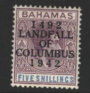 Bahamas Sc#128 MVLH