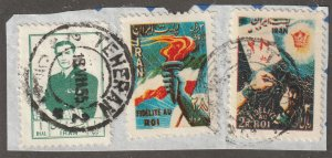 Persian/Iran stamp, Scott# 1008, on piece, used, Shaw, #v-85a