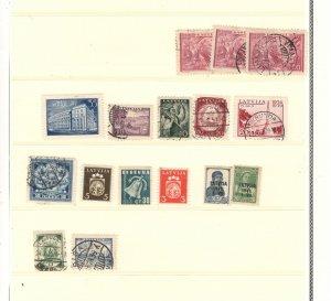 LATVIA COLLECTION ON STOCK SHEET, MINT/USED