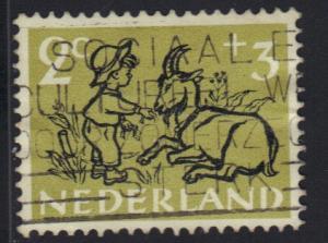 Netherlands 1952  used child welfare 2  +  3 ct    #