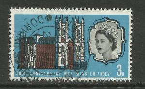 GB 1966 QE2 3d Westminster Abbey Error frame shift down SG 687 ( 128 )