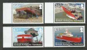 BAT British Antarctic Territory 2018 RRS David Attenborough 4v Set Of Stamps MNH