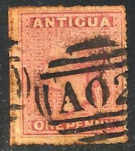 Antigua 1863 Scott# 2 Used (left borde tear)