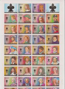Ajman Kings and Queens of France Full Sheet MNH