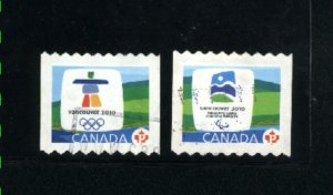 Canada #2307A, 2307B  -1 used  VF 2009 PD