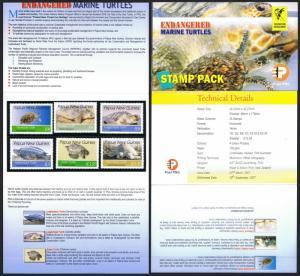 Papua NG Endangered Marine Turtles 6v Presentation Pack SG#1158-1163 CV£10+ ...