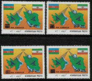 Azerbaijan #403-6 MNH Set - Telecommunications