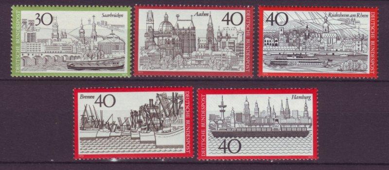 J21683 Jlstamps 1973 germany set mnh #1106-10 towns