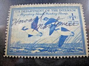 U.S. STAMPS FOR COLLECTORS - SCOTT #RW15   DUCK STAMP    Used   (kbrw15)