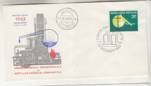 NETHERLANDS ANTILLES,1963 Chemical Industry 20c., First Day cover