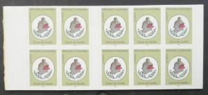 EDW1949SELL : FRENCH ANDORRA 1996 Scott #471a. 10 Cplt Booklets. VF MNH Cat $175