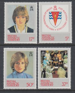 British Antarctic Territory 92-95 MNH VF
