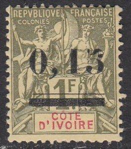Ivory Coast 20 MLH CV $26.00
