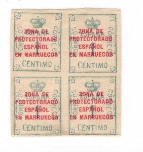 Morocco #52 Block MH - Stamp - CAT VALUE $5.00